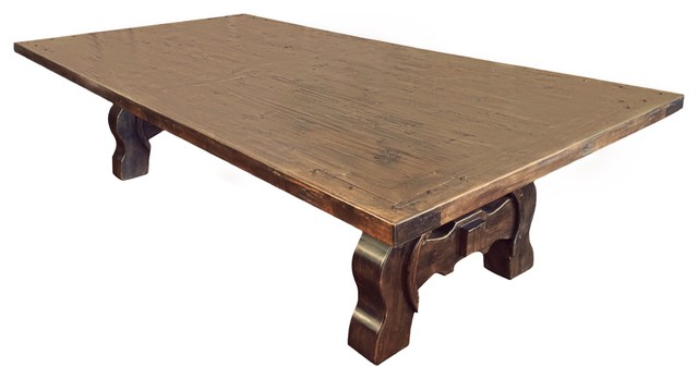 Knotty Alder Wood Dining Table traditional-dining-tables