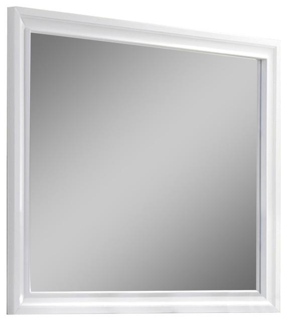 Naima Mirror, White.