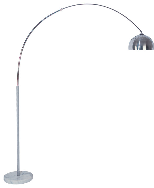 Skyler Adjustable 81&x27;&x27; Arc Floor Lamp With Marble Base.
