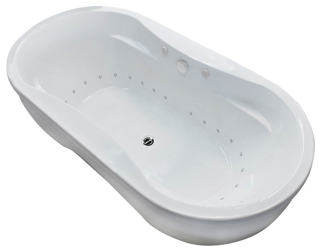 Monet  X  Oval Freestanding Bathtub W Whirlpool Jetted  Air - Free standing jetted soaking tub