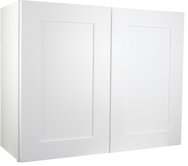 "Cabinet Mania White Shaker Kitchen Wall Cabinet 33""x42""x12""."