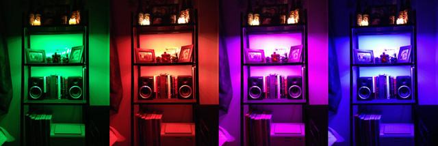 inspired led lighting. Inspired LED Colored LEDs - Bookcase Lighting Led