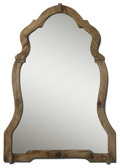 Agustin Light Walnut With Burnished Details Mirror.