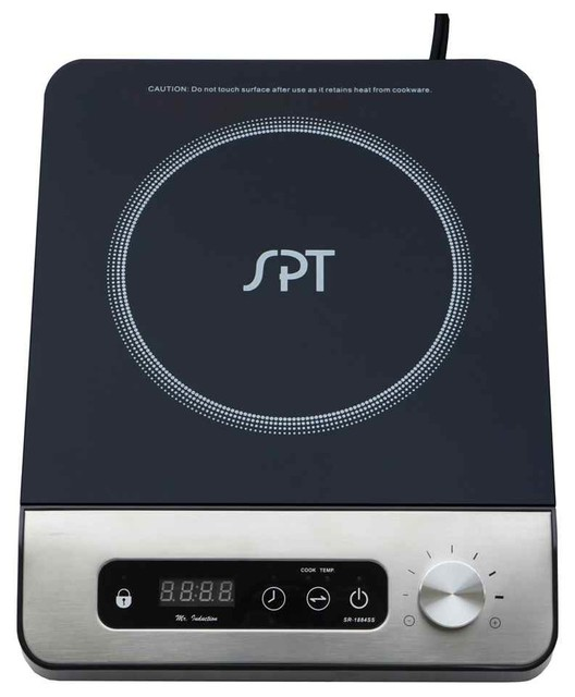 1650w Induction Cooktop With Control Knob.