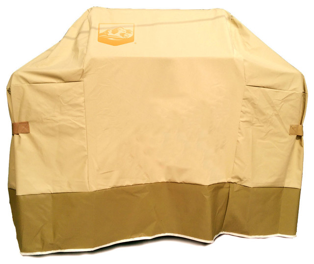 Premium Cover For Weber Genesis E & S 300 Series Gas Grills, Tan And Brown.