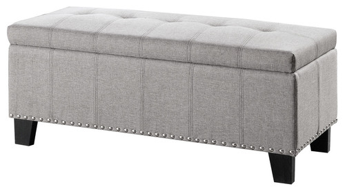 Miller Lift-Top Storage Bench, Gray