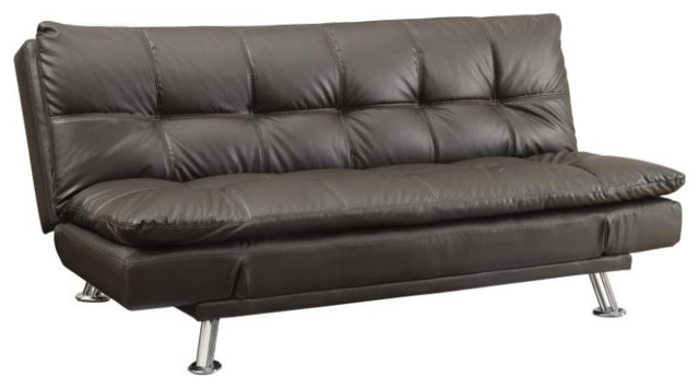 Dilleston Sofa Bed Futon Style With Chrome Legs
