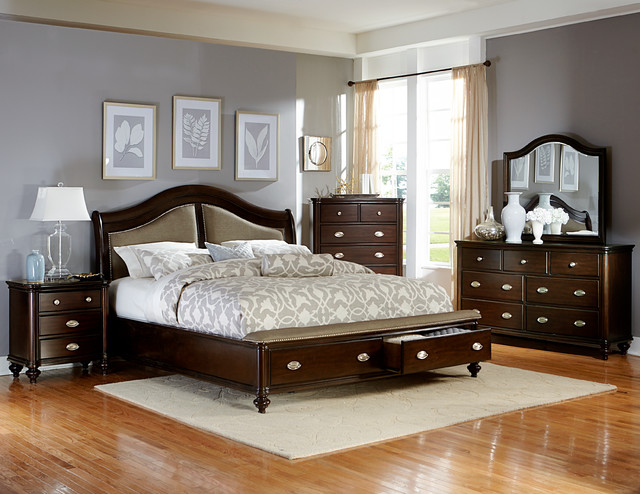 Transitional Bedroom Furniture the seraphina bedroom set - transitional - bedroom - miami -el