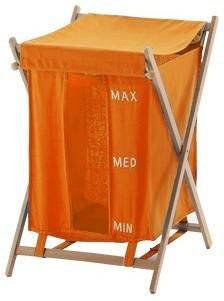 Orange Laundry Basket.