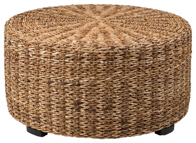 Charmant East At Mainu0027s Langdon Brown Round Abaca Coffee Table