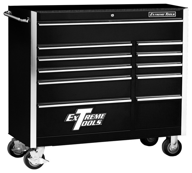 """Extreme Tools - Extreme Tools 41"""" 11-Drawer Standard Roller Cabinet, Black & Reviews 