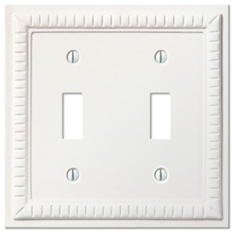 White Ceramic Resin Toggle Switchplate Traditional Switch Plates
