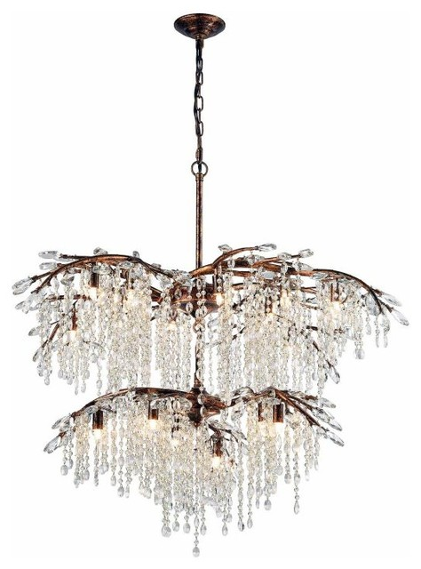Elk lighting elia 18 light chandeliers spanish bronze view in elia 18 light chandeliers spanish bronze traditional chandeliers aloadofball Choice Image