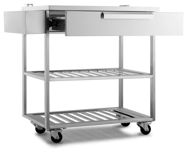 Outdoor Kitchen Bar Cart, Stainless Steel Contemporary Bar Carts