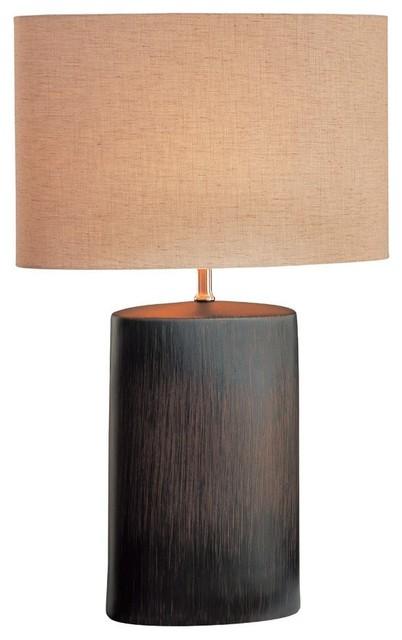 Narvel 1-Light Table Lamps, Dark Walnut.