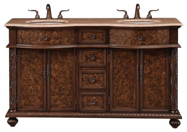 60 Amelia Single Sink Vanity Traditional Bathroom Vanities And Sink Consoles By Morning Design Group Inc