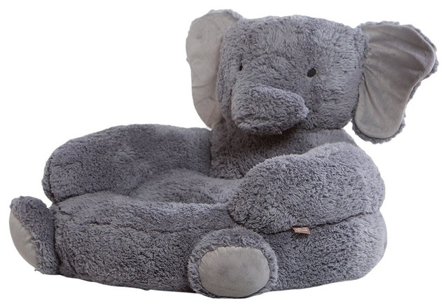 Elephant Childrenu0027s Plush Character Chair