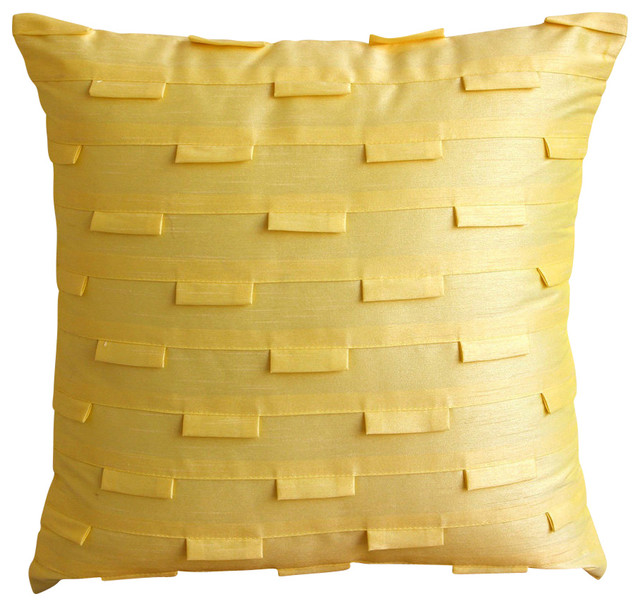 pillow case texture. Yellow Art Silk 14\ Pillow Case Texture E