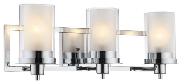 Avalon Chrome 3-Light Wall Sconce Bathroom Fixture, 21-0522
