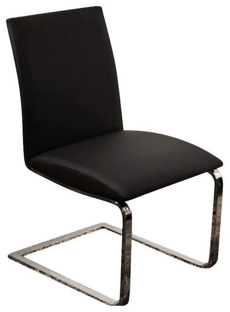 collection dining chair black eco leather transitional dining chairs