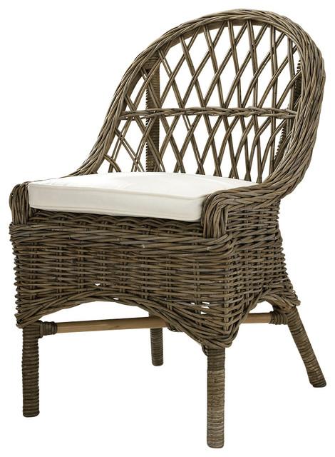Beau Kubu Cross Weave Dining Chair, Set Of 2