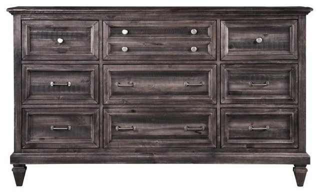 68 In Dresser In Weathered Charcoal Finish Rustic Dressers By