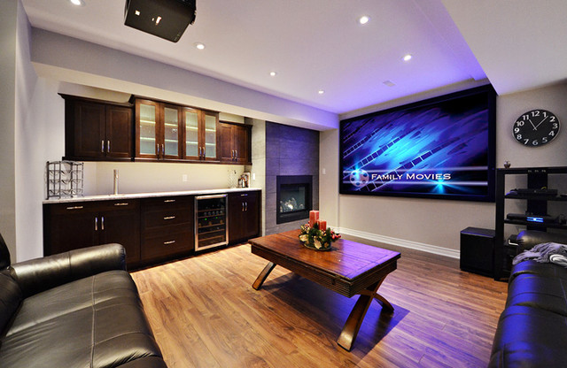 Open Concept Basement Ideas Basement Toronto By
