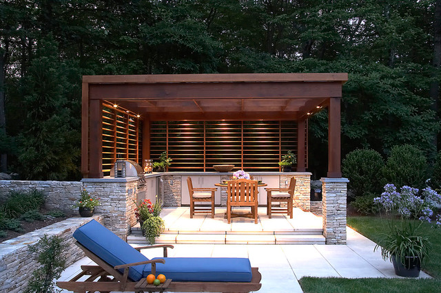 OUTDOOR POOL PAVILION Modern New York By CURTIS RYAN