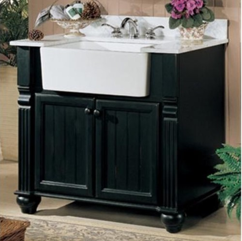 Apron sink bathroom vanity