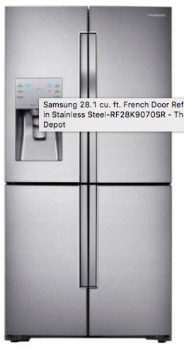Http://www.homedepot.com/p/Samsung 22 5 Cu Ft 4 DoorFlex French Door  Refrigerator In Stainless Steel Counter Depth RF23J9011SR/205881214