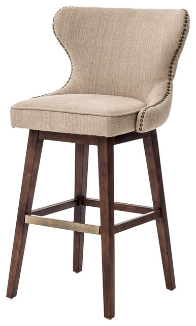 Astonishing Imani Modern Classic Beige Spoon Back Swivel Bar Stool Ncnpc Chair Design For Home Ncnpcorg