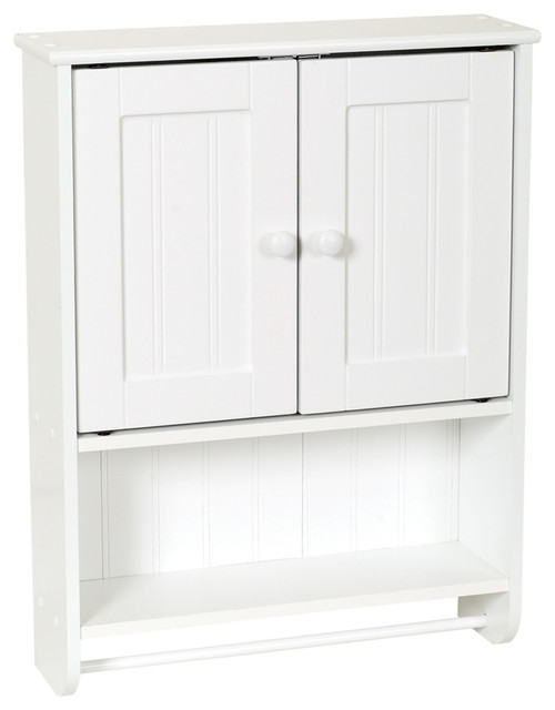 Zenna Home White Country Cottage Style Wall Cabinet - Traditional ...