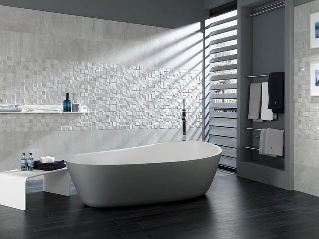 Bathroom Tiles Perth concrete look tiles - mosaico rodano acero - industrial - perth