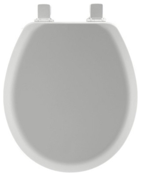 Astonishing Mayfair 41Ec 162 Round Molded Wood Toilet Seat With Easy Clean Hinges Silver Ocoug Best Dining Table And Chair Ideas Images Ocougorg