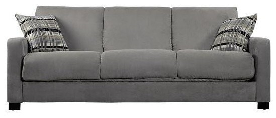 Microfiber Convertible Couch Futon Sleeper Sofa, Green.
