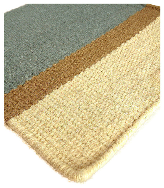 Bliss home design edisto wool berber stripe rug area for Wool berber area rug