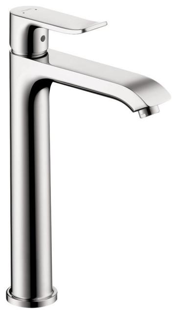 hansgrohe 31183001 Metris E Single Hole Faucet Comfort in Chrome
