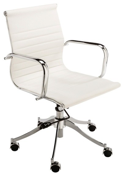 modern office chair leather and stainless steel