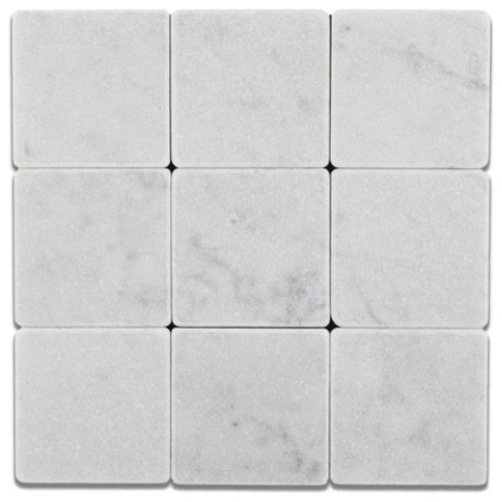 White Tumbled Marble Tile 4x4 Marble from Italy Traditional