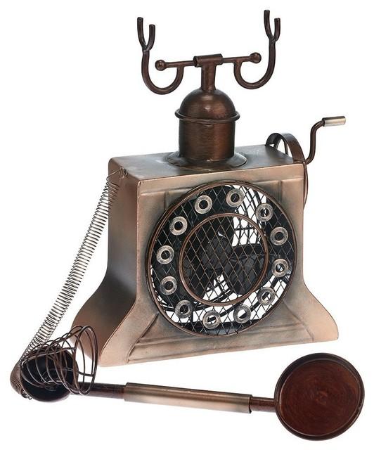 Figurine Fan, Antique Copper Phone.