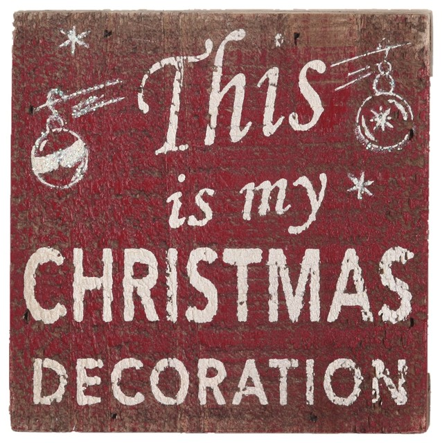 This Is My Christmas Wood Holiday Wisdom Sign, 4x4.