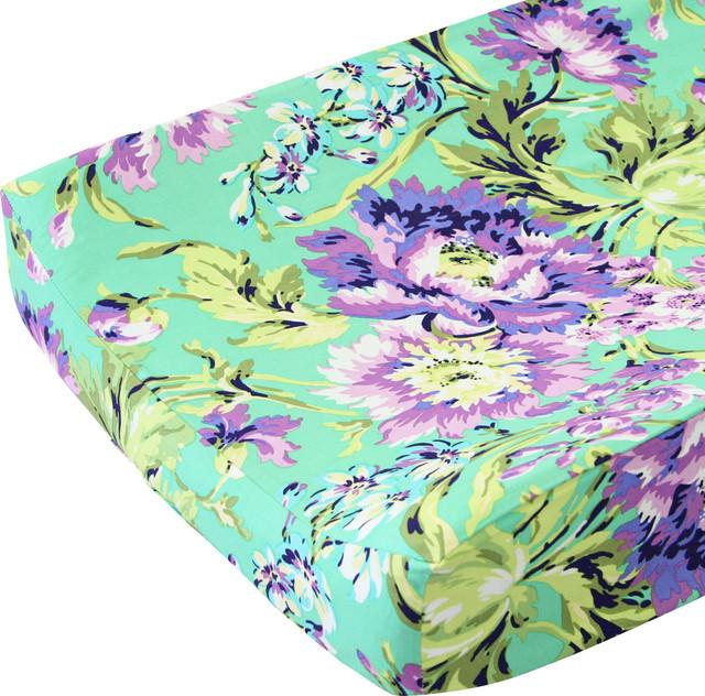 Stokke Care Changing Table ... Lane Changing Pad Cover, Purple Paige - Changing Table Pads And Covers