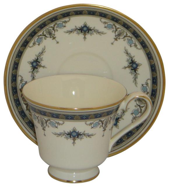 Gold Rim Minton GRASMERE Blue Floral Bone China Cup /& Saucer Sets s