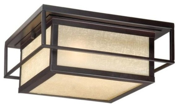 "Vaxcel Hyde Park 12"" Outdoor, Flush Mount, Espresso Bronze"