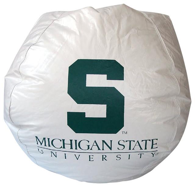 Bean Bag Boys Vinyl Chair In Michigan State Spartans