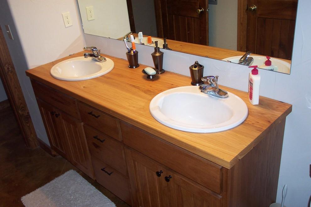 Pecan bBthroom Vanity Counter Top