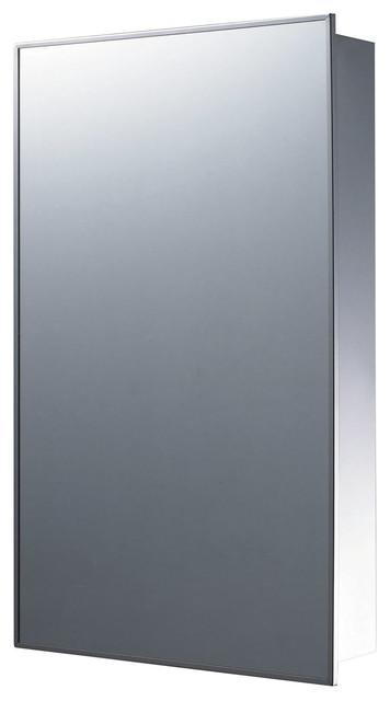 "Single Door Cabinet, Recessed Mounted, Stainless Steel, 16""x26"""