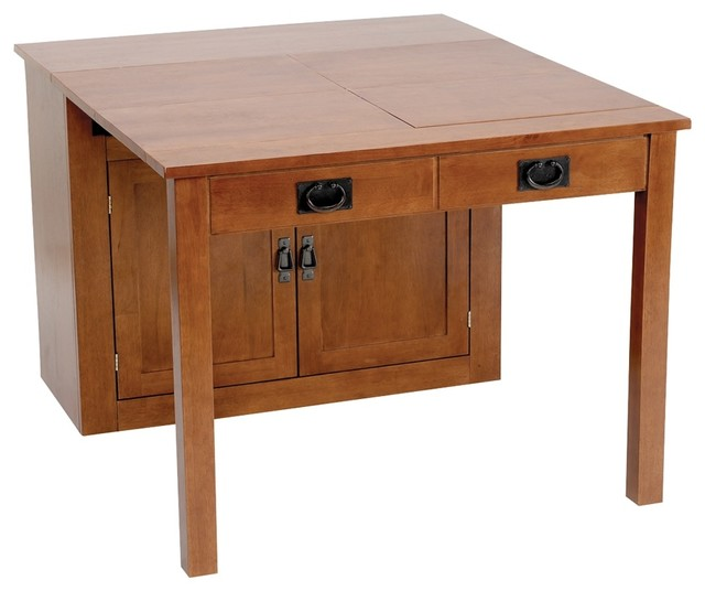 Stakmore 5272.00 Mission Expanding Cabinet Dining Table ...