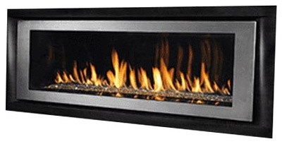 "Superior Drl6554ten 54"" Direct Vent Electronic Linear Fireplace, Natural Gas."
