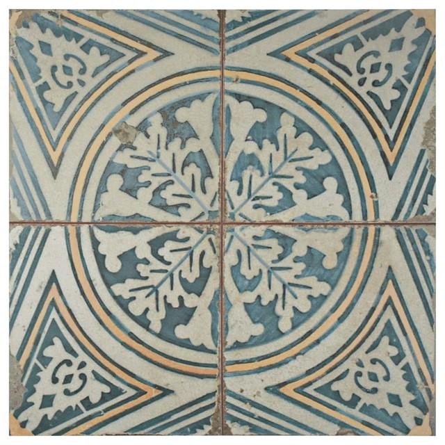"""17.75""""x17.75"""" Royals Ceramic Floor/Wall Tiles, Flatlands"""